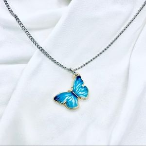 Blue Mariposa Butterfly Necklace